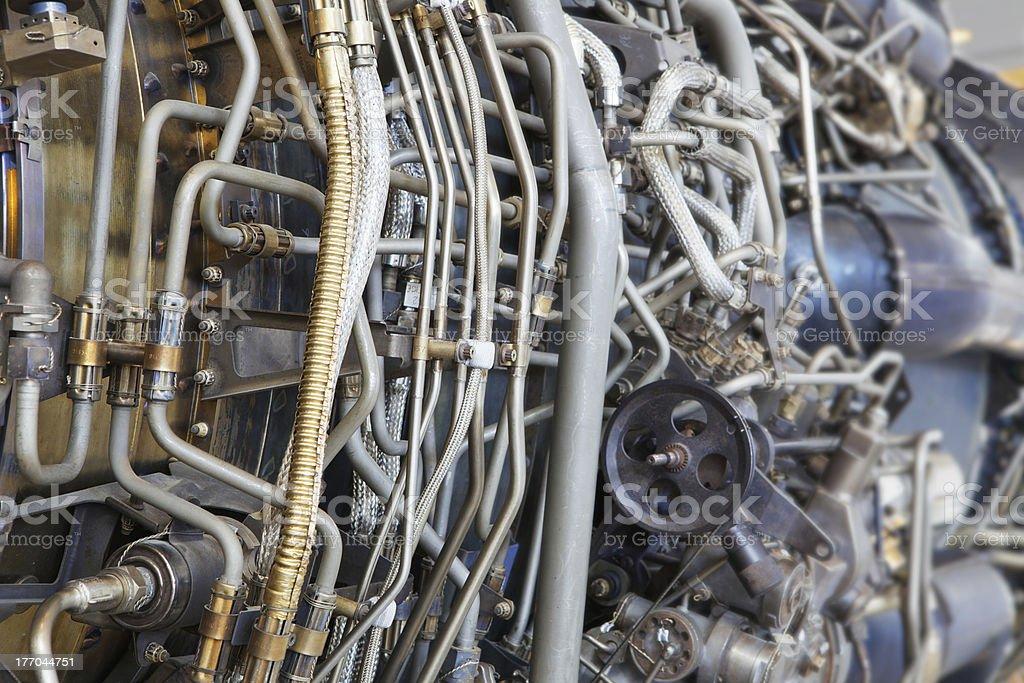 Jet engine internal royalty-free stock photo