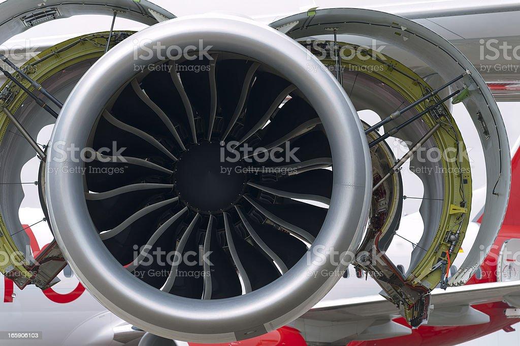 Jet engine maintenance royalty-free stock photo