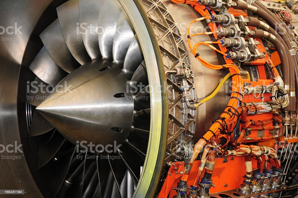 Jet engine. stock photo