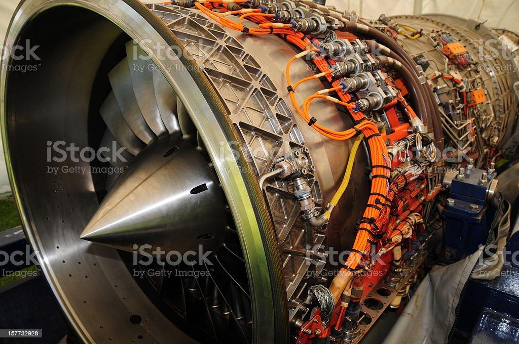 Jet engine. royalty-free stock photo