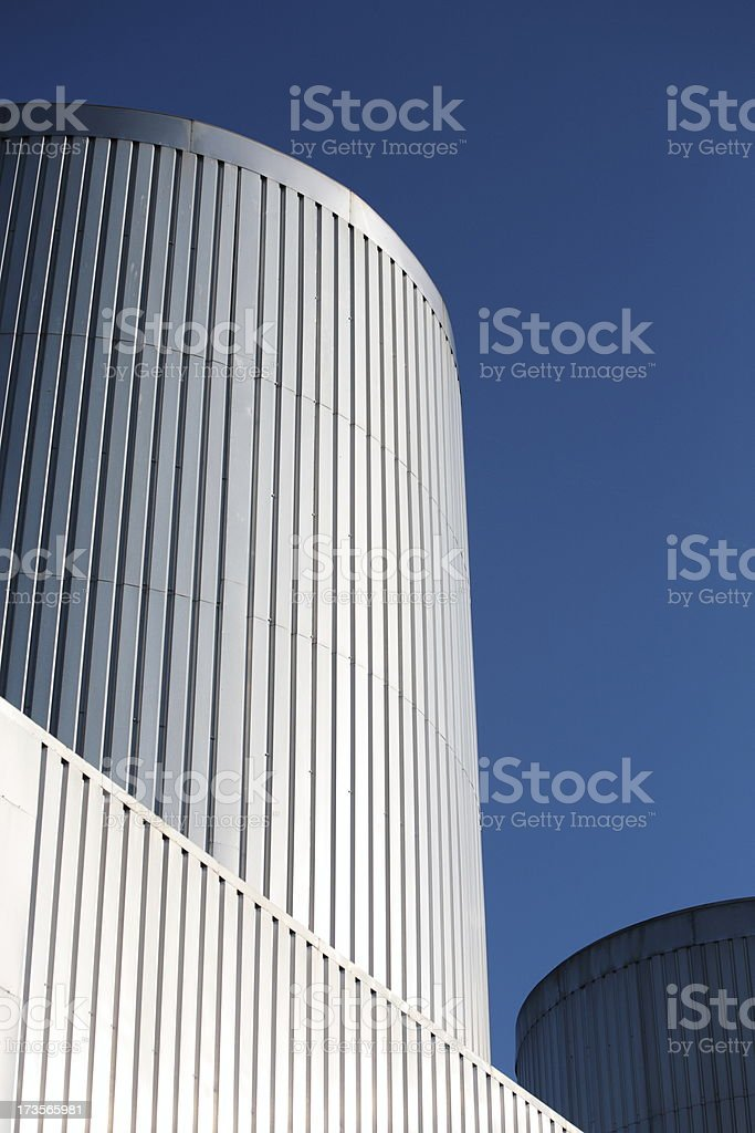 Jet Engine Test Bed Exhausts stock photo