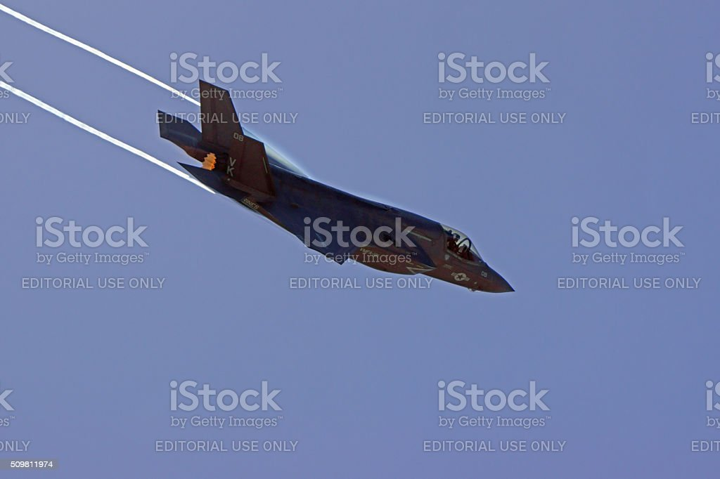 Jet F-35 Lighting Stealth Fighter stock photo