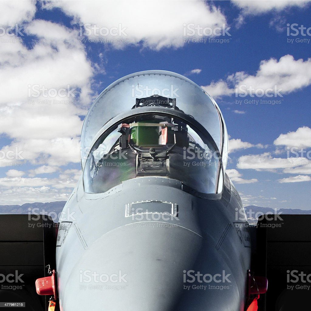 Jet Fight Cockpit Close-Up with Clipping Path royalty-free stock photo