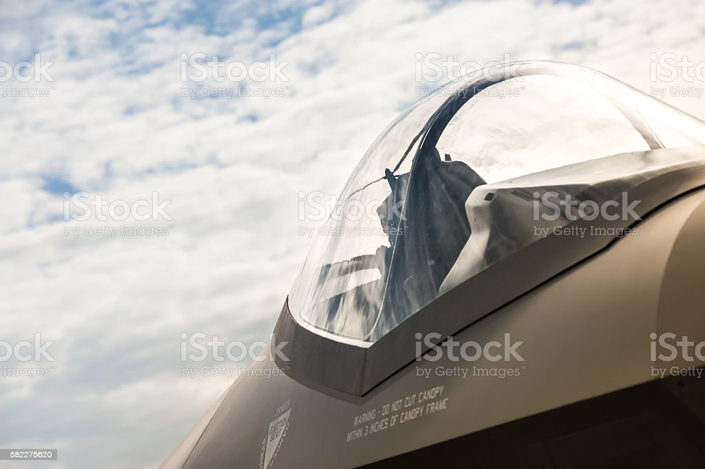 jet fighter canopy stock photo