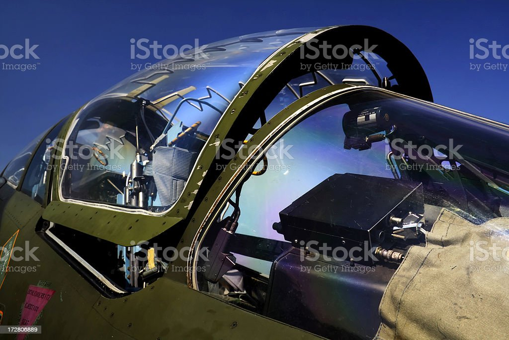 Jet fighter cockpit royalty-free stock photo