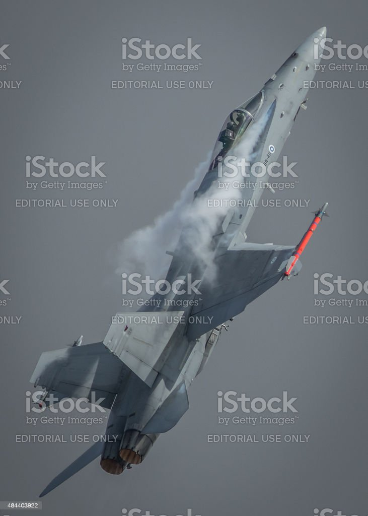 F-18 jet fighter, Finnish Air Force stock photo