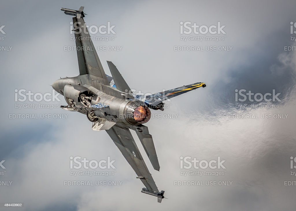F-16 jet fighter, Greek Air Force stock photo