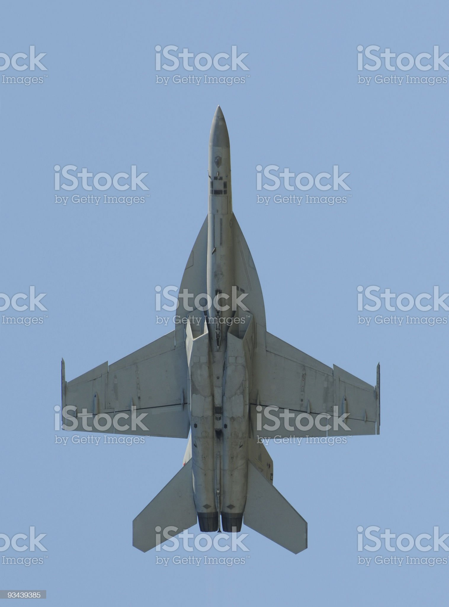 Jet fighter overhead royalty-free stock photo