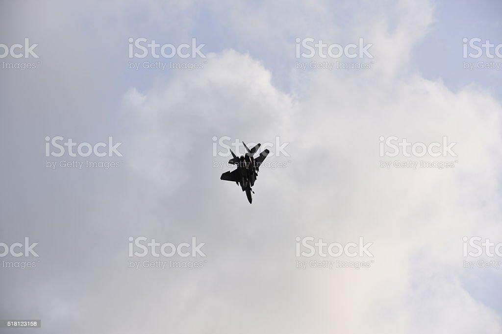 F-15 jet fighter stock photo