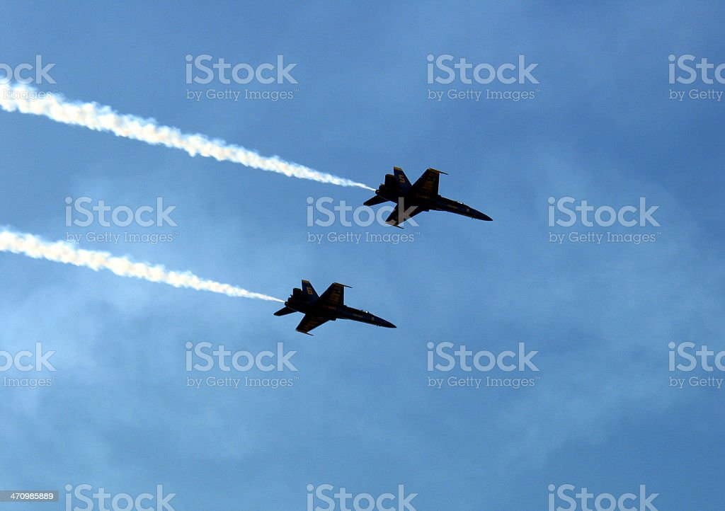 F-18 Jet Fly Over royalty-free stock photo