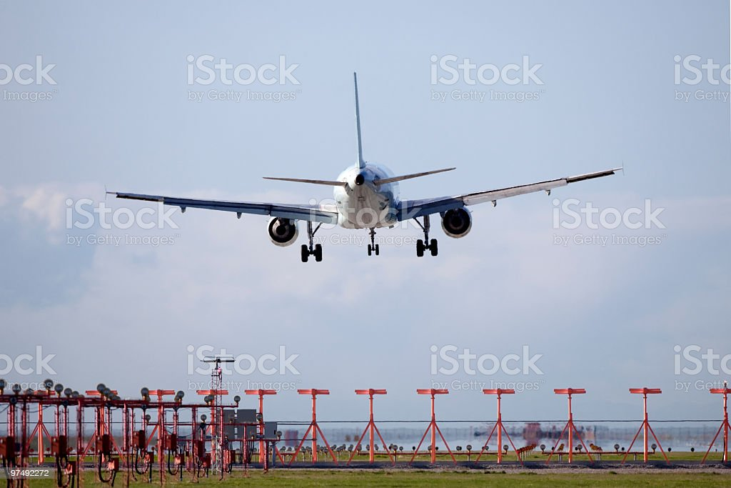 Jet Flying stock photo