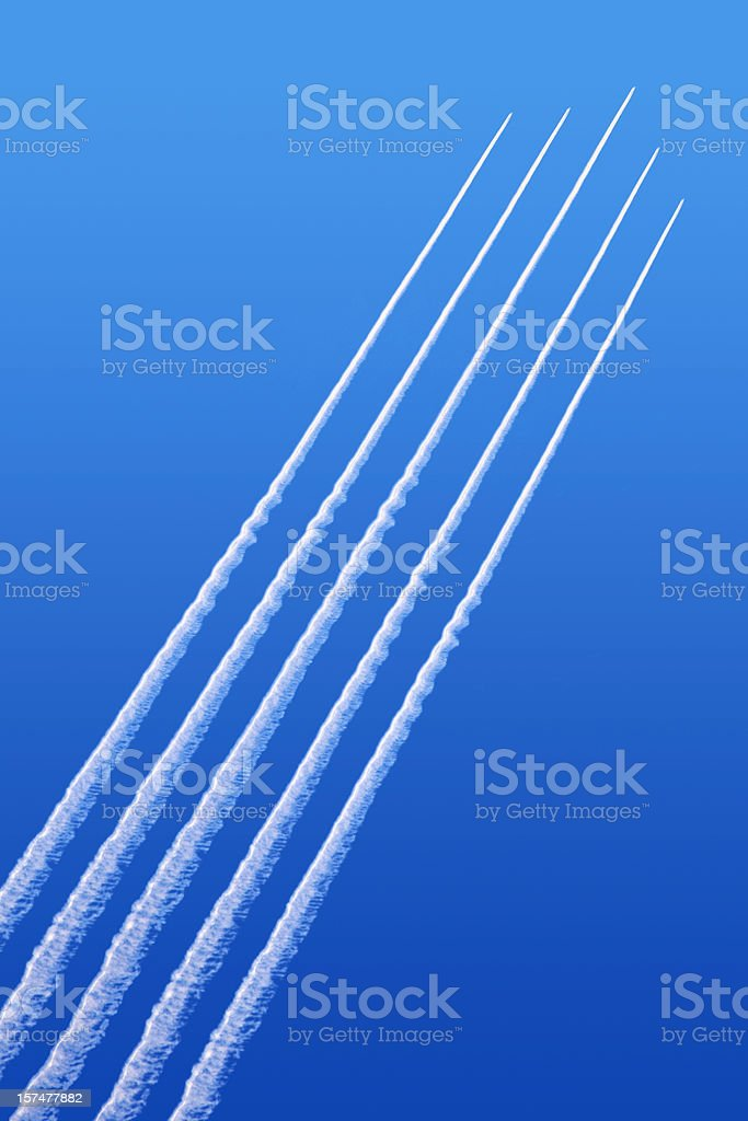Jet formation royalty-free stock photo