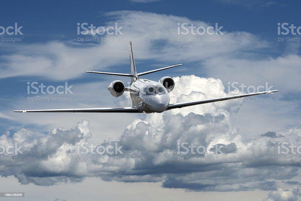 jet in sky royalty-free stock photo