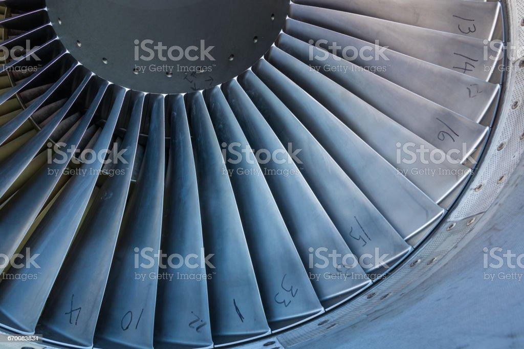 Jet Intake Blades stock photo