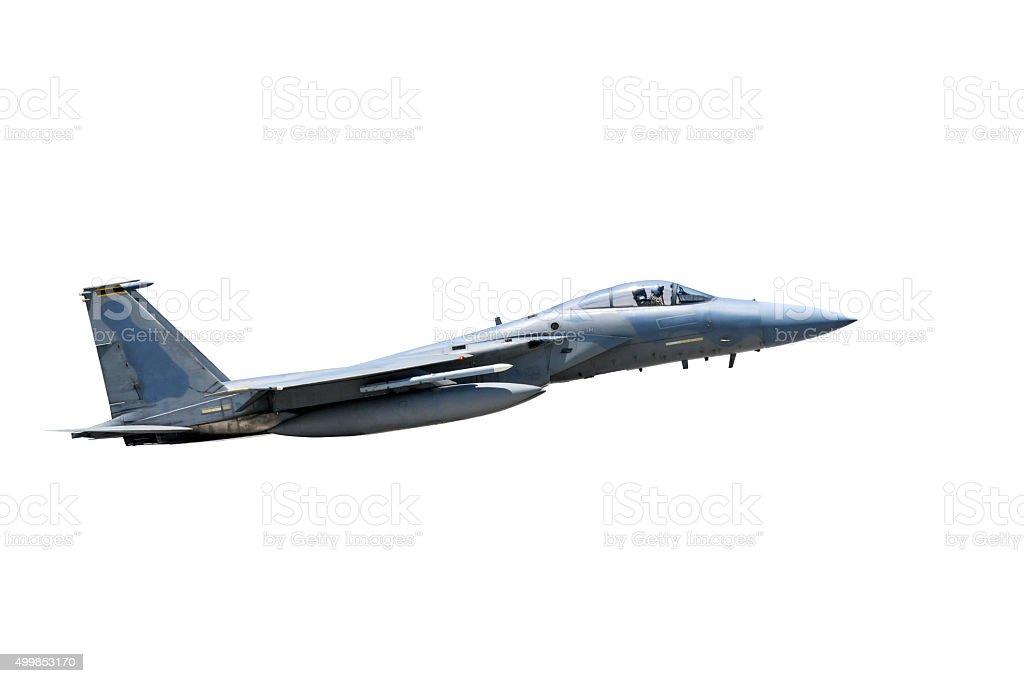 F-15 jet isolated stock photo
