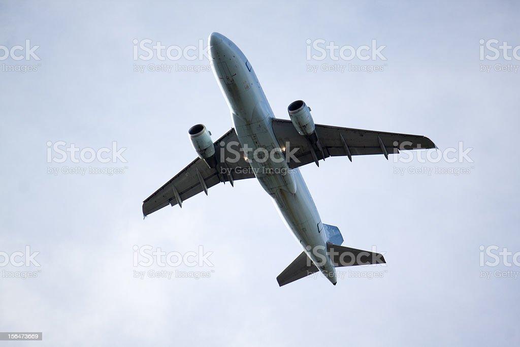 jet overhead royalty-free stock photo