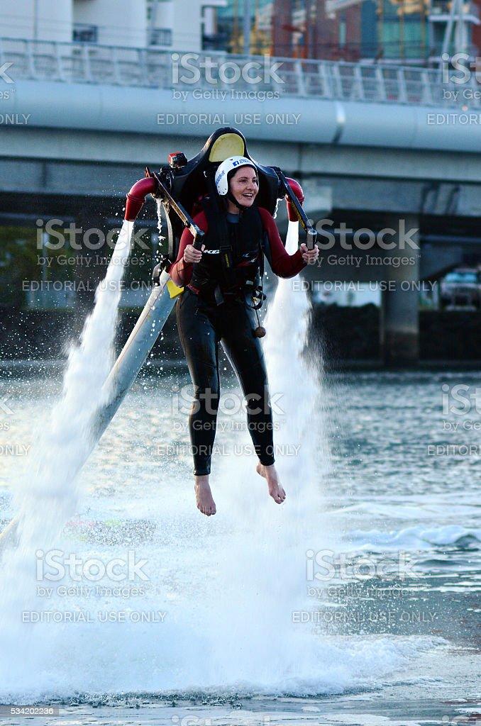 Jet pack in Gold Coast Queensland Australia stock photo