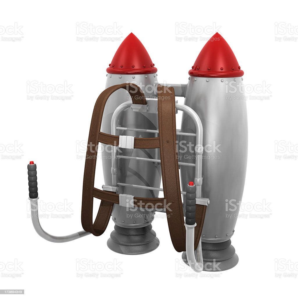 A jet pack on a white background stock photo
