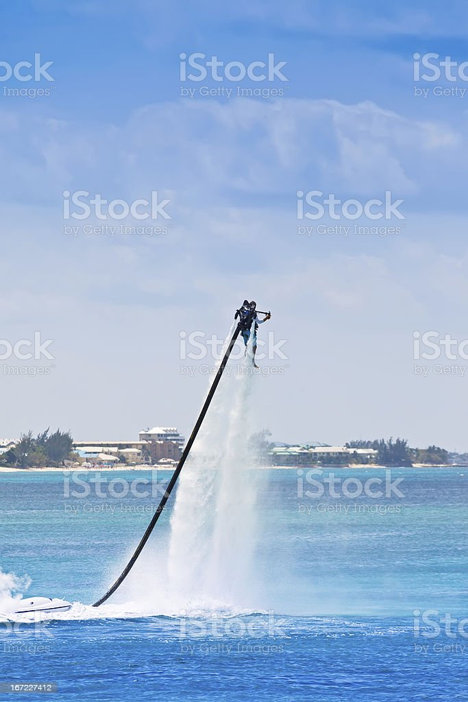 Jet Pack on Water stock photo