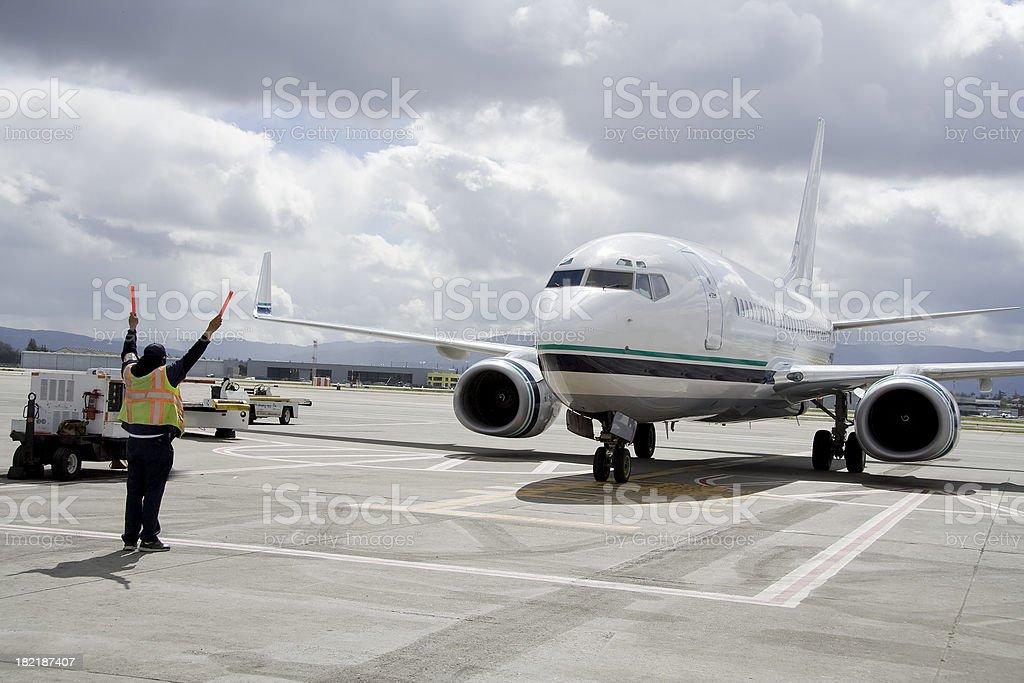 Jet Parking stock photo