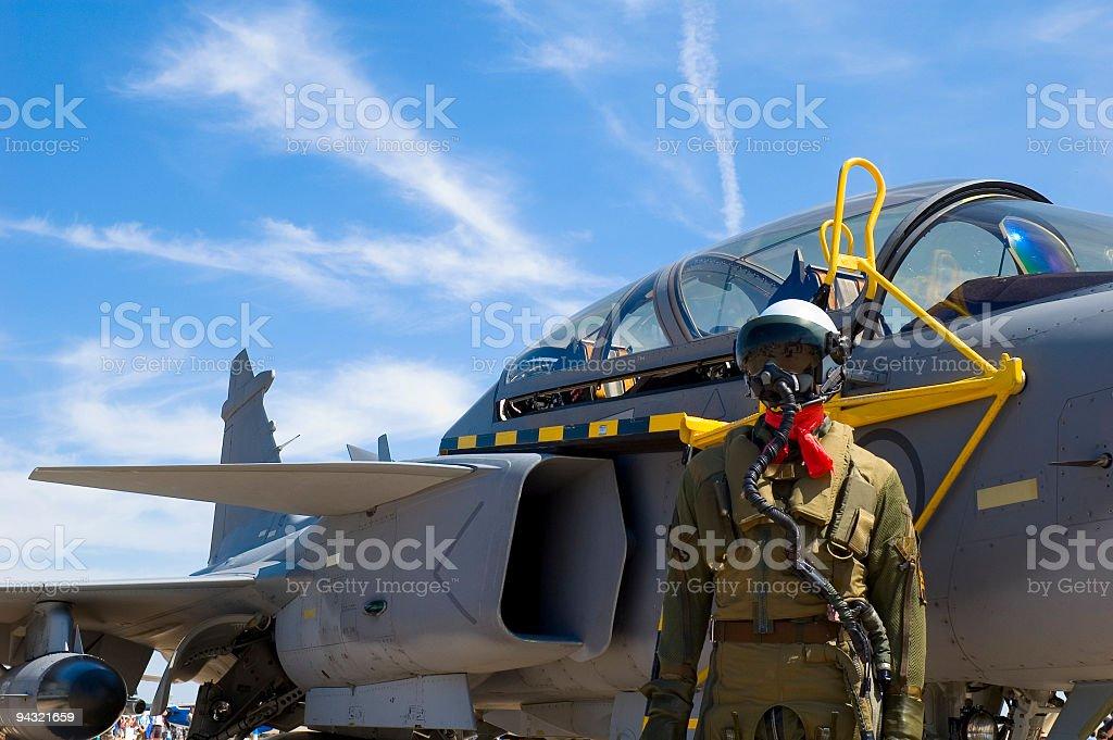 Jet pilot stock photo