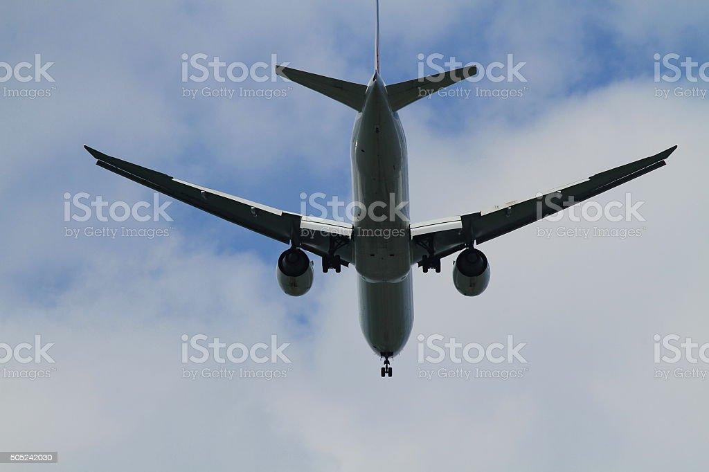 Jet Plane landing. stock photo