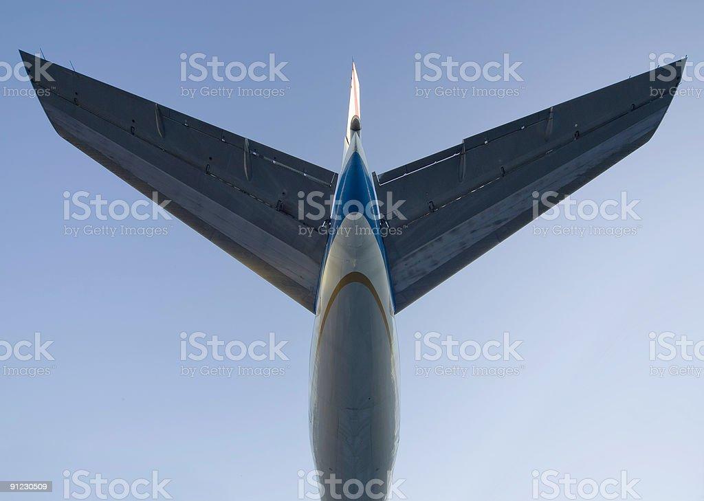 Jet Plane Tail stock photo