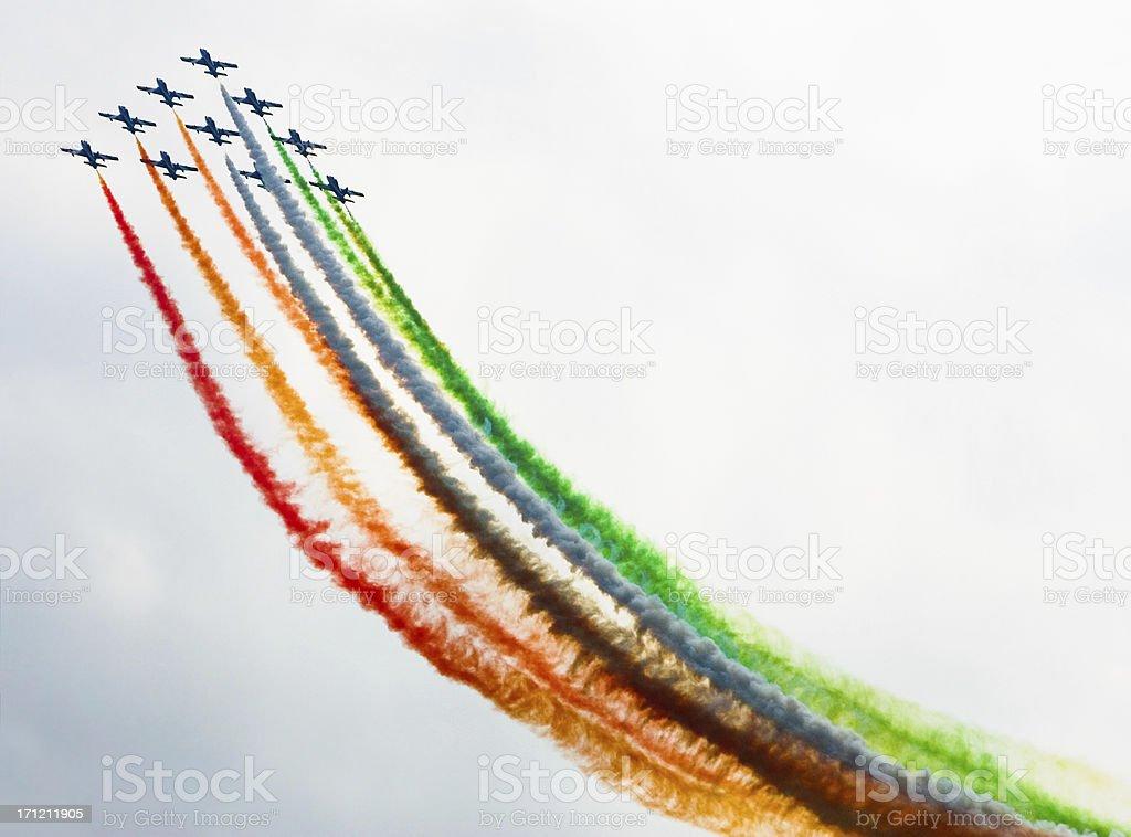 Jet planes stock photo