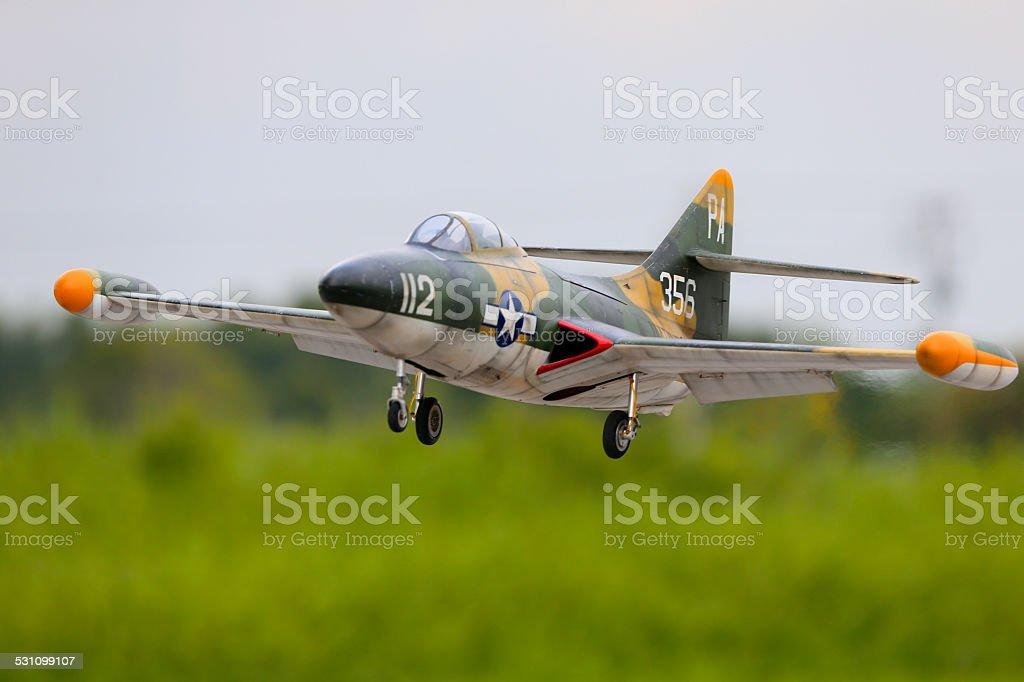 RC Jet Scale Grumman F9F Panther radio control stock photo