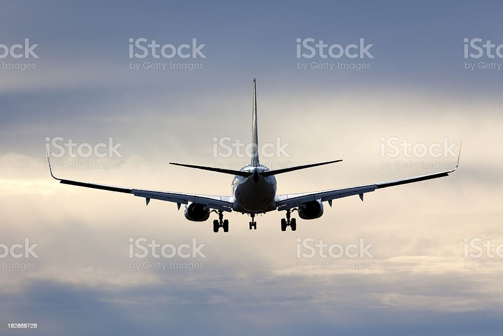 Jet Silhouette royalty-free stock photo