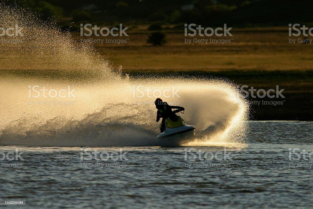 Jet ski action stock photo
