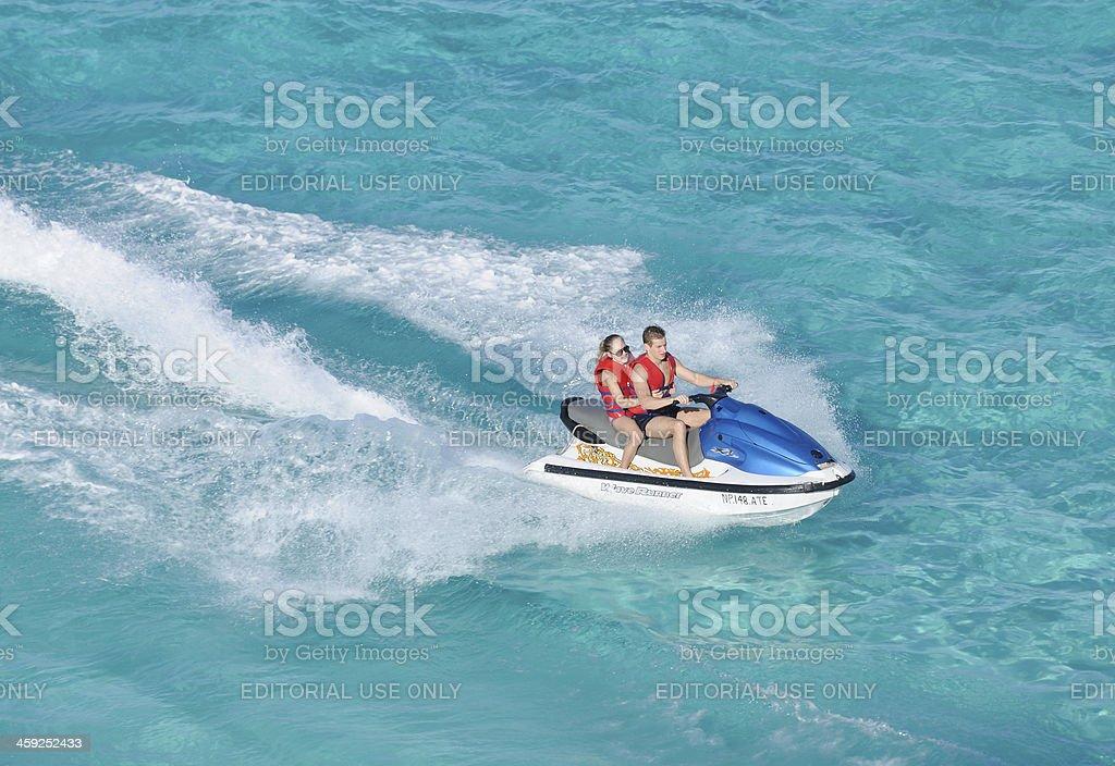 Jet Ski, Bahamas stock photo