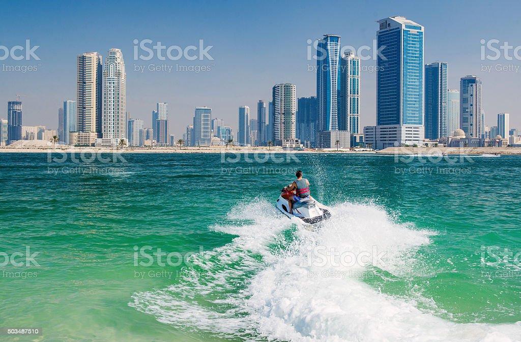 Jet Ski in Dubai stock photo