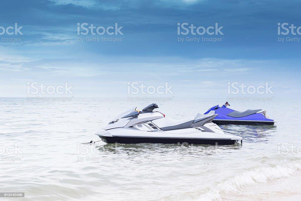 Jet ski on the Beach stock photo
