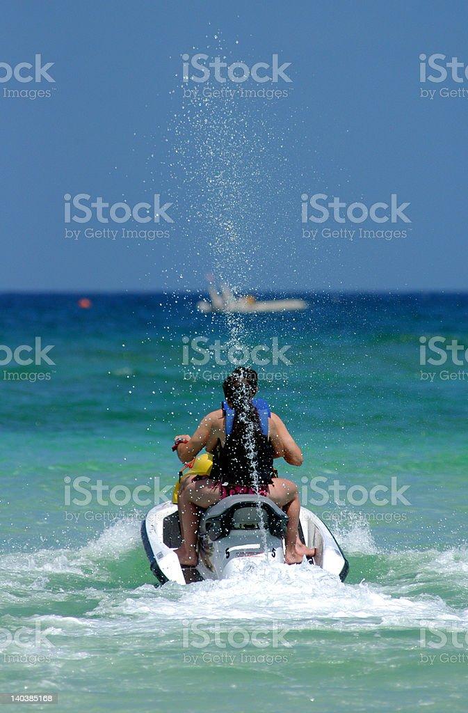 Jet skiing royalty-free stock photo