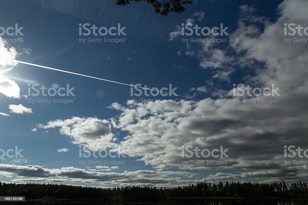 Jet stream royalty-free stock photo
