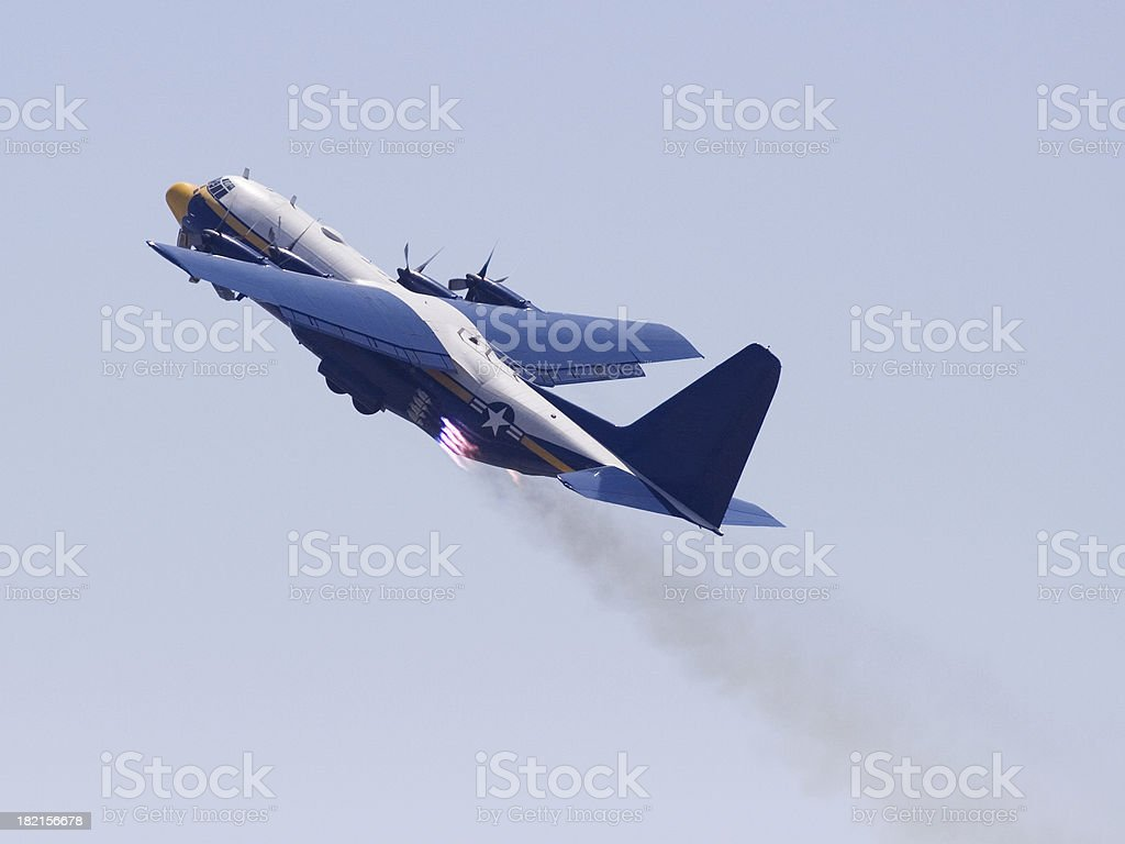 Jet Taking Off stock photo