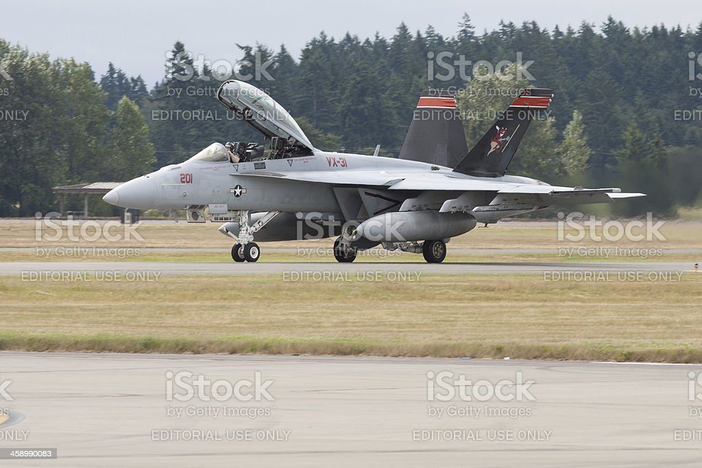Jet Taxiing royalty-free stock photo
