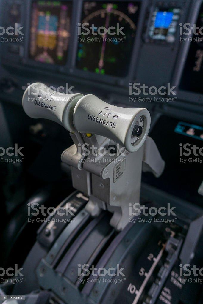 jet throttle stock photo