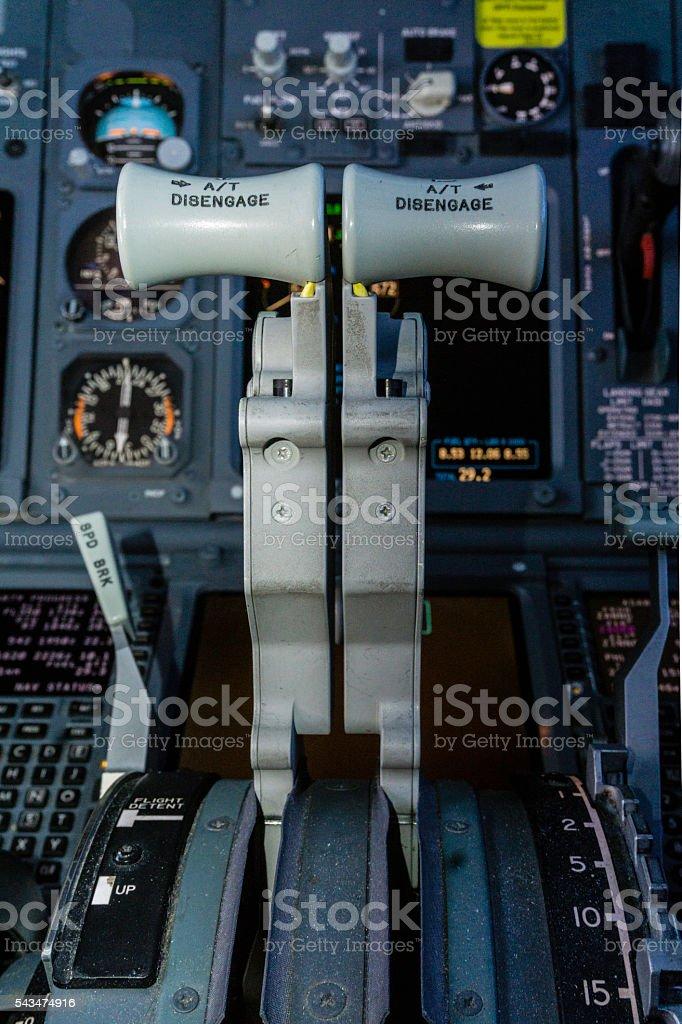 Jet throttles stock photo
