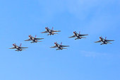 Jet Thunderbirds F-16 fighters in formation