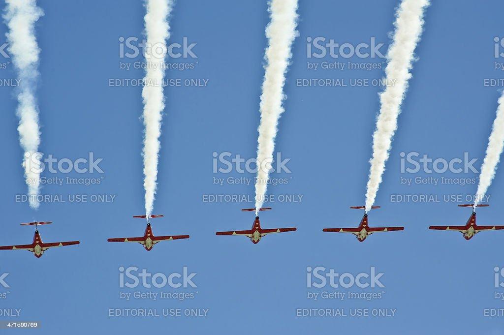 Jet Trails stock photo