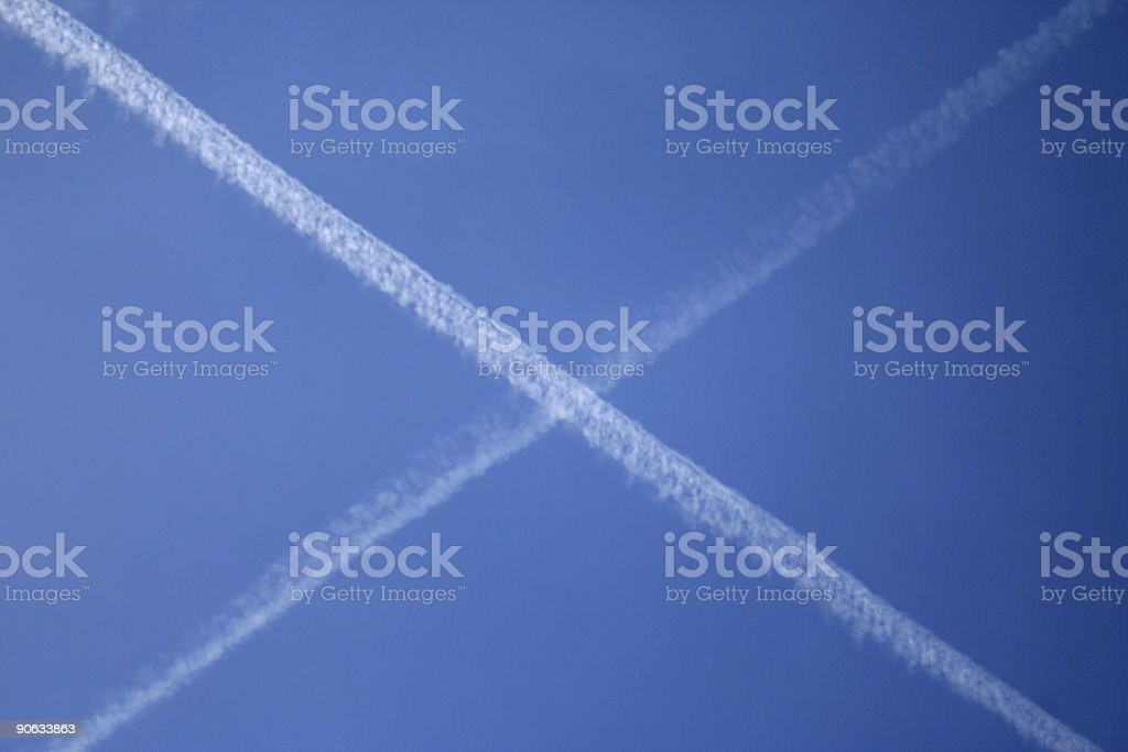 jet trails stock photo
