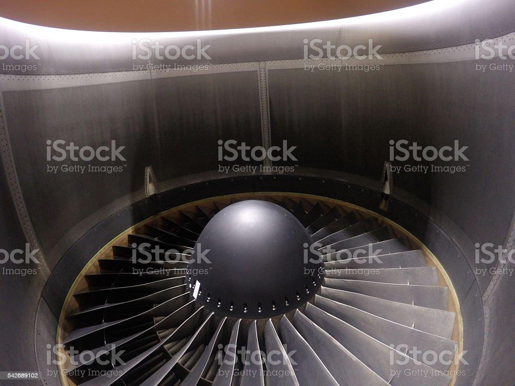 Jet Turbine Engine stock photo