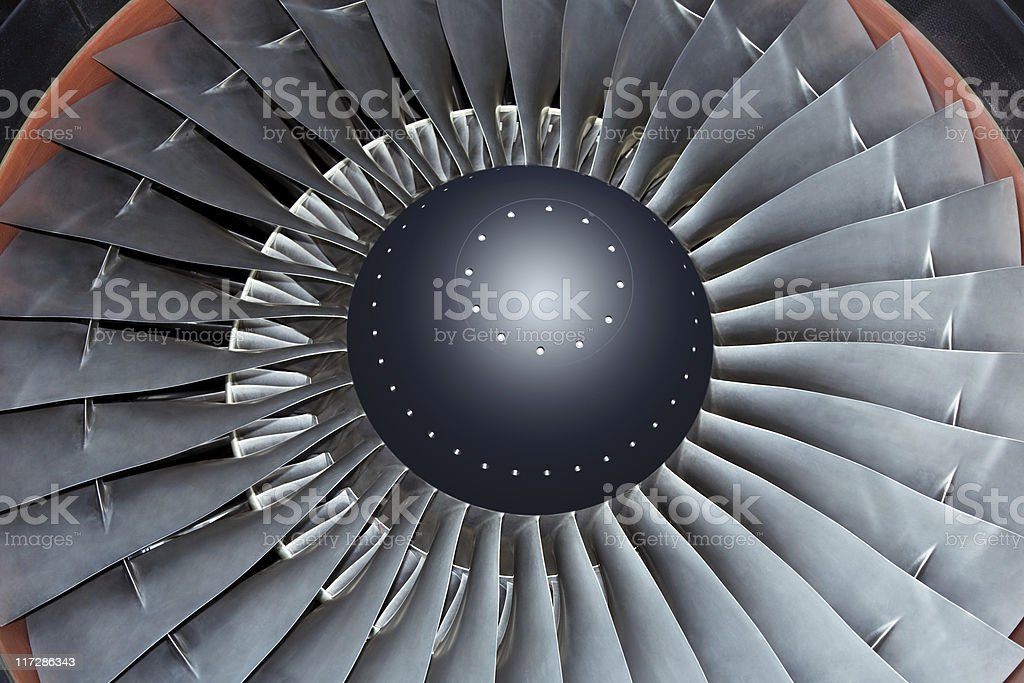 Jet Turbine royalty-free stock photo