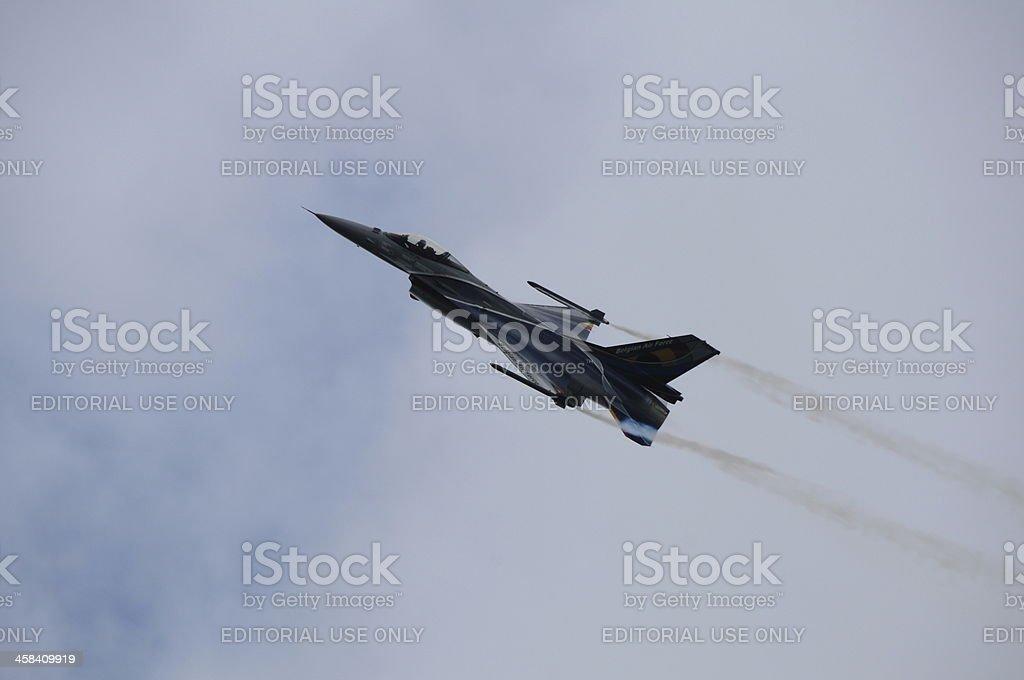 F16 jet, U.K. royalty-free stock photo