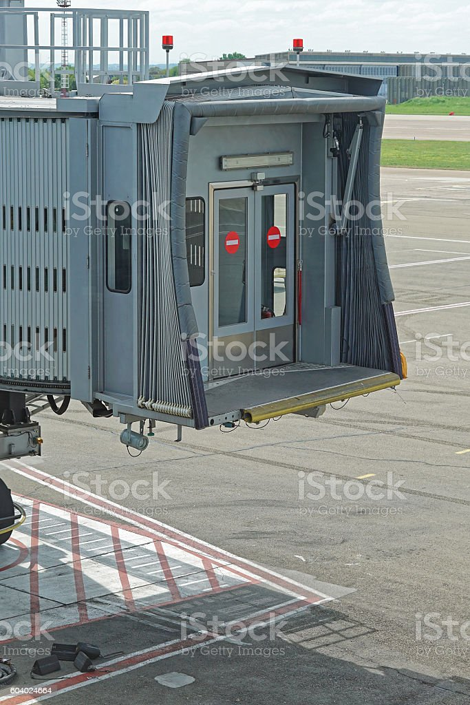 Jet way connection stock photo
