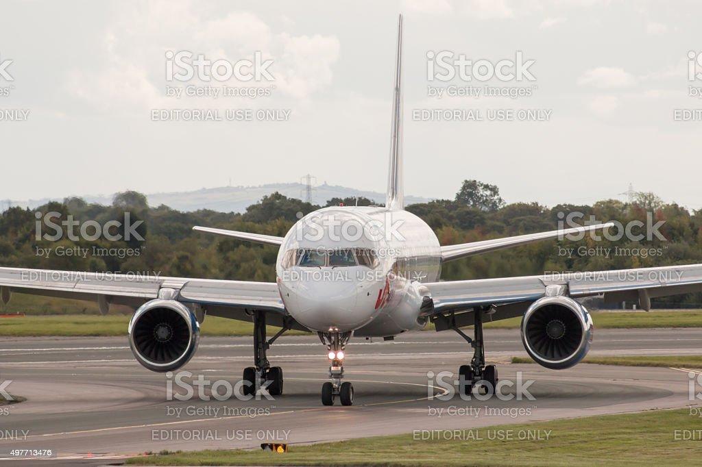 Jet2 Holidays Boeing 757 stock photo