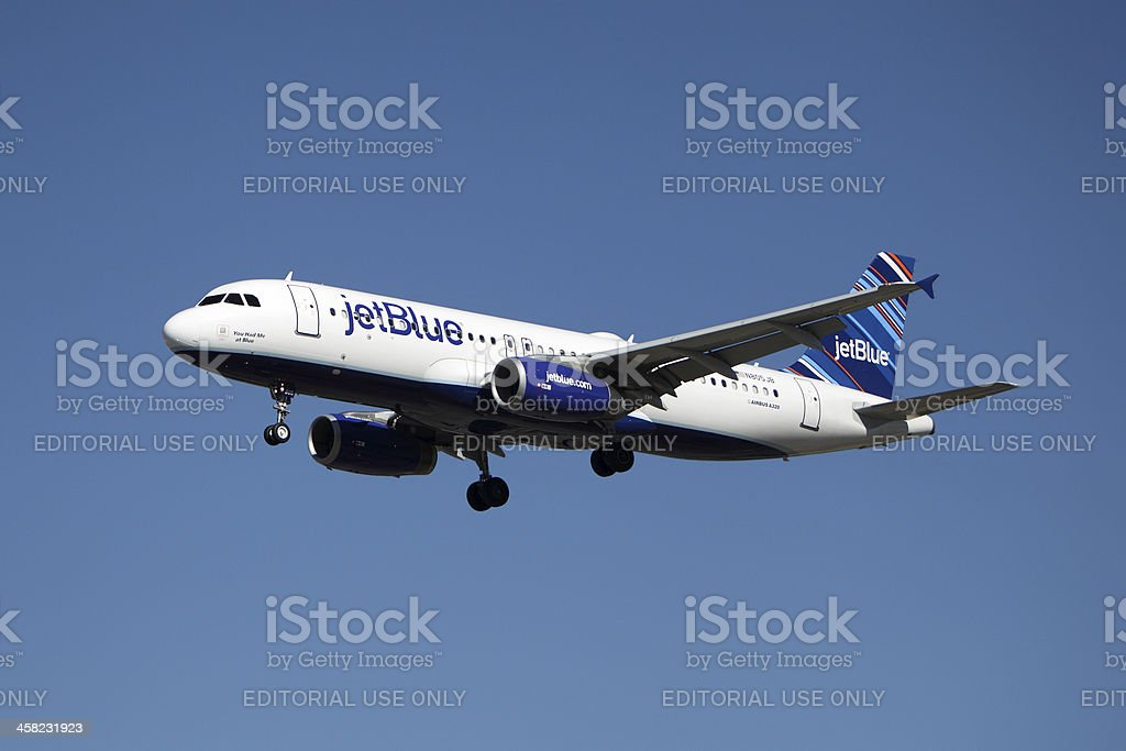 Jetblue Airbus A320 royalty-free stock photo