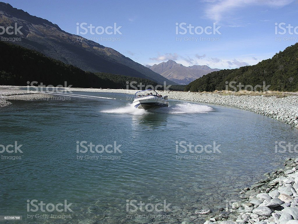 Jetboat stock photo